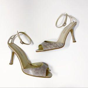 Colin Stuart- Snake Skin Ankle Strap Heel